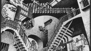 Relatividad, M.C. Escher